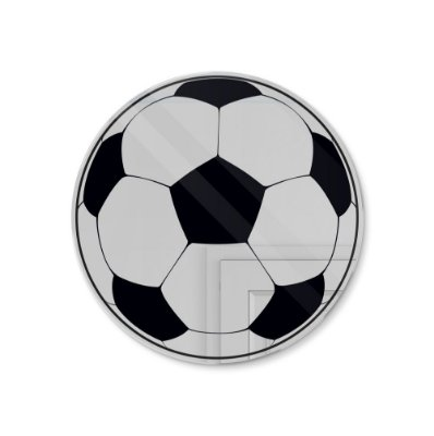 Espelho Decorativo feito em Acrílico Espelhado (25x25cm) - Bola de Futebol