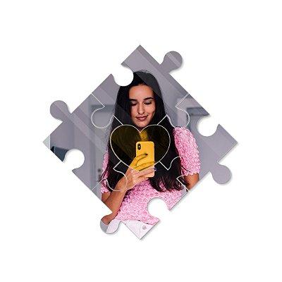 Espelho Decorativo feito em Acrílico Espelhado (40x40cm) - Quebra Cabeça Coração