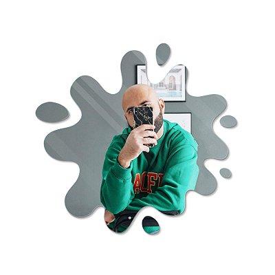 Espelho Decorativo feito em Acrílico Espelhado (45x42cm) - Tinta