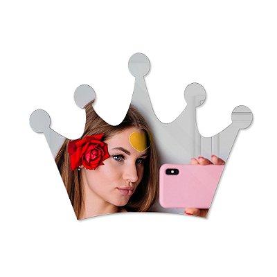 Espelho Decorativo feito em Acrílico Espelhado (40x30cm) - Coroa
