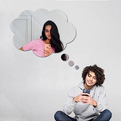 Espelho Decorativo feito em Acrílico Espelhado (40x30cm) - Pensamento
