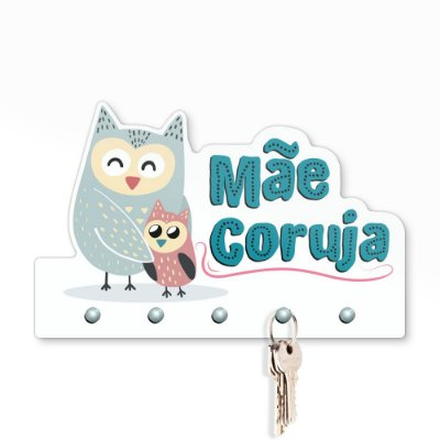 Porta Chaves 20x12 - Mãe Coruja