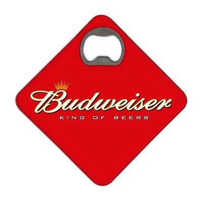 Porta Copos c/ Abridor - BUDWEISER RED