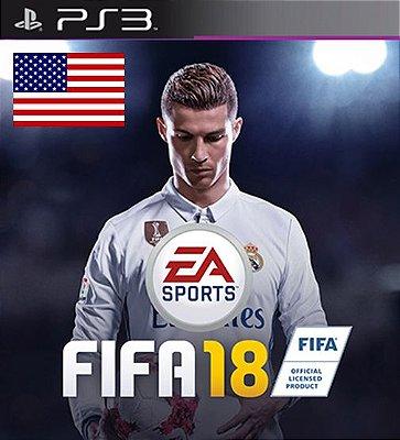 Fifa 18 em Ingles USA - PS3 Mídia Digital