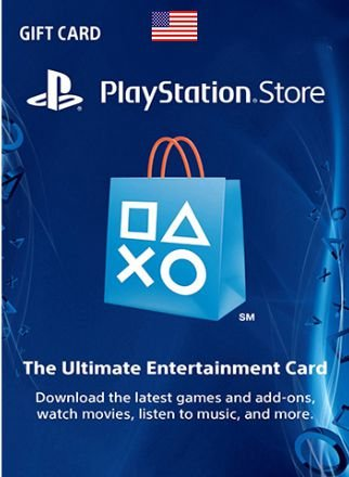 Cartão PSN Card 10 Dolares USA Playstation PS3 PS4 Vita