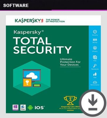 KASPERSKY TOTAL SECURITY 2019 Licença Original 1 Ano 5 Dispositivos