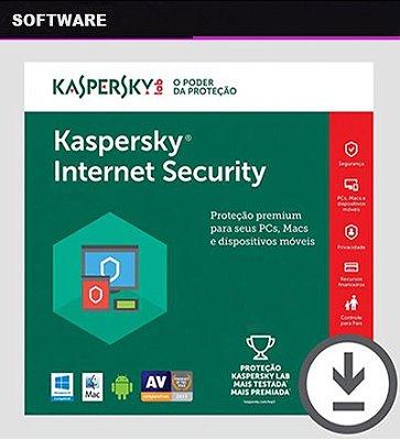 KASPERSKY INTERNET SECURITY 2019 Licença Original 1 Ano 1 Dispositivo