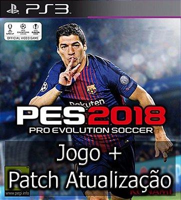 PES 2018 + Patch Atualização 2020 - PS3 Mídia Digital + Patch