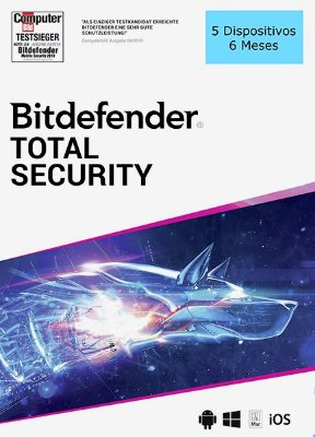BITDEFENDER TOTAL SECURITY 2020 Original 5 Dispositivos 6 Meses