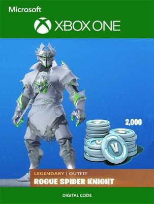 Fortnite Rogue Spider Knight Bundle 2000 V-Bucks Xbox One Digital Original - Codigo 25 Digitos