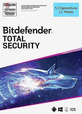 BITDEFENDER TOTAL SECURITY 2020 Original 5 Dispositivos 12 Meses