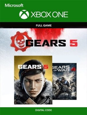 Gears 5 + Gears of War 4 Bundle Xbox One Live Digital Original - Codigo 25 Digitos