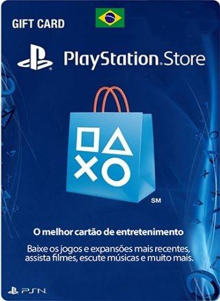 Cartão Psn Brasil R$ Card Playstation Ps3 Ps4 Vita