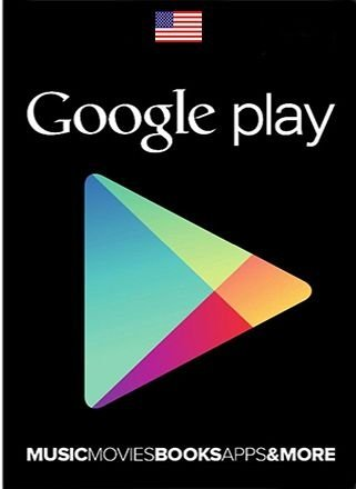 Card Google Play Store US Dolares Cartão Android