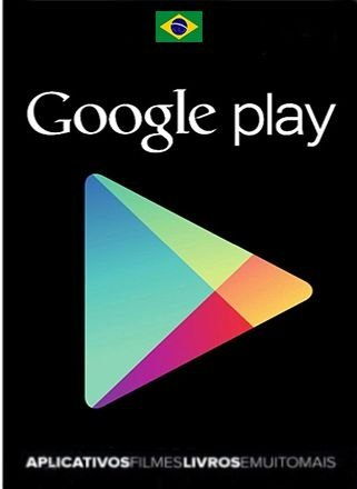 Cartão Google Play Store Brasil R$ Card Android
