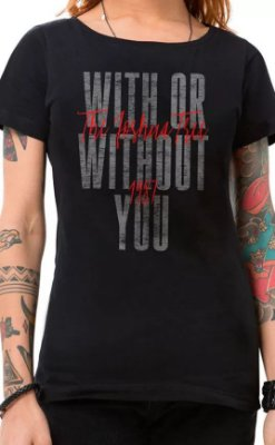 Camiseta U2 With Or Without You