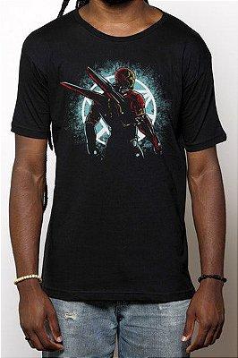 Camiseta Masculina Armadura Homem de Ferro