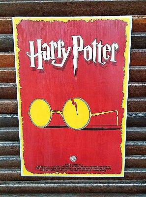 Placa decorativa em metal Harry Potter