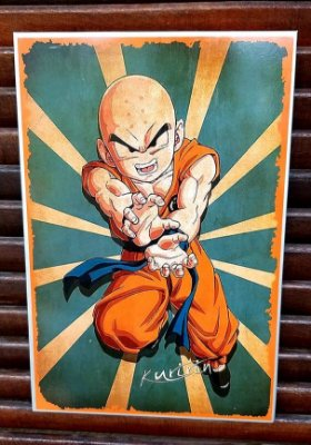 Placa decorativa em metal Kuririn