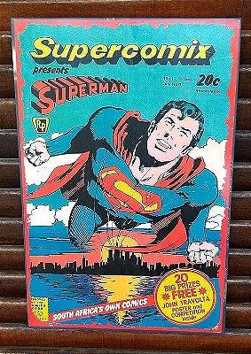 Placa decorativa em metal Superman Supercomix