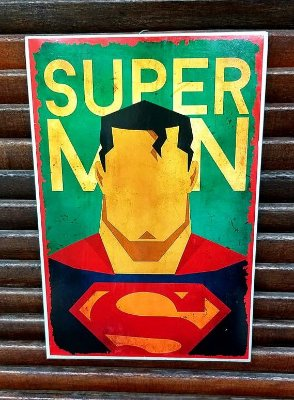 Placa decorativa em metal Superman