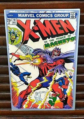 Placa decorativa em metal X-Men Vs. Magneto
