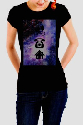 Camiseta Feminina E.T. Phone Home