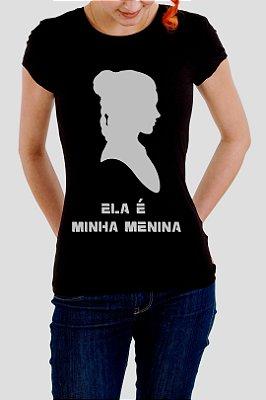 Camiseta Feminina Minha Menina, Leia Organa