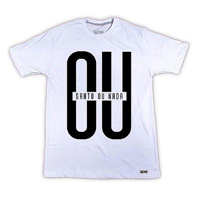 Camiseta Ou Santo ou Nada