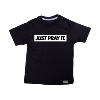 Camiseta Infantil Just Pray It ref 134