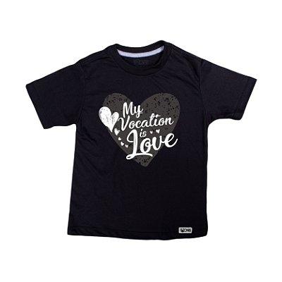 Camiseta Infantil Minha Vocação é o Amor ref 140