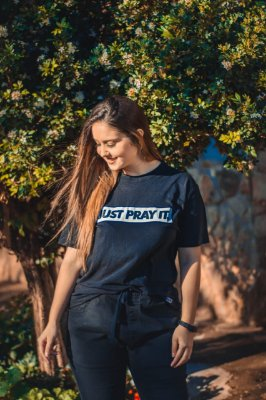 Camiseta Feminina Just Pray It ref 134