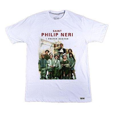Camiseta Feminina Usedons Eu prefiro o Paraíso - São Filipe Neri ref 176