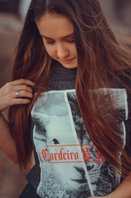 Camiseta Feminina UseDons Cordeiro e Leão ref 173