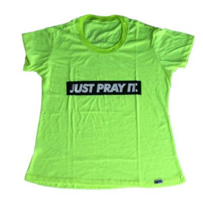 Baby Look Just Pray It Verde Neon outlet
