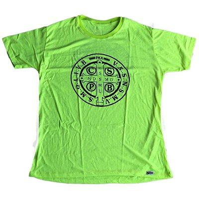 Camiseta Medalhão São Bento verde neon outlet