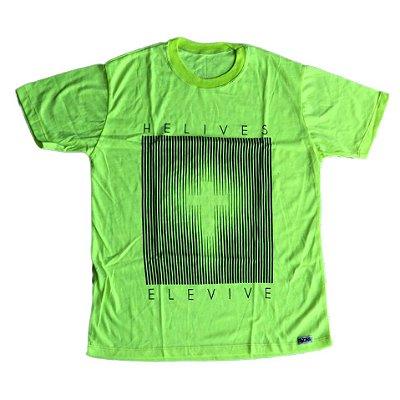 Camiseta Ele Vive verde neon outlet