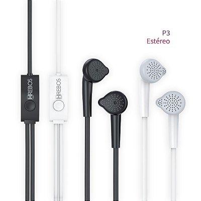 Fone Estéreo P3 - Controle e Microfone