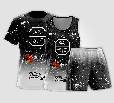 Kit Masculino   Camiseta, Regata e Shorts   Foot Table Preto