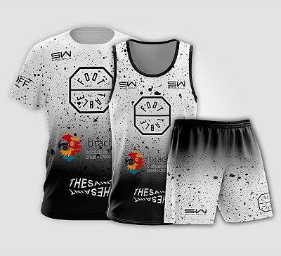 Kit Masculino | Camiseta, Regata e Shorts | Foot Table Branco