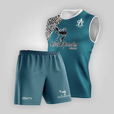 Conjunto Regata e Shorts | Masculino | Coleção Kath Guedes | Azul