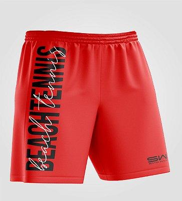 Bermuda Masculina   Beach Tennis   Colors   Vermelha