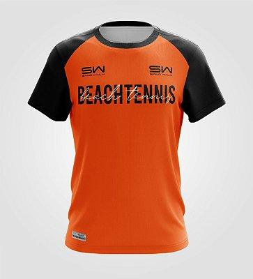 Camiseta Masculina | Beach Tennis | Colors | Laranja