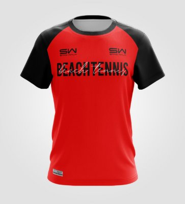 Camiseta Masculina   Beach Tennis   Colors   Vermelha