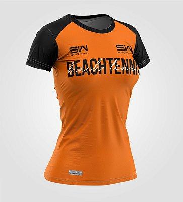 Camiseta Feminina | Beach Tennis | Colors | Laranja