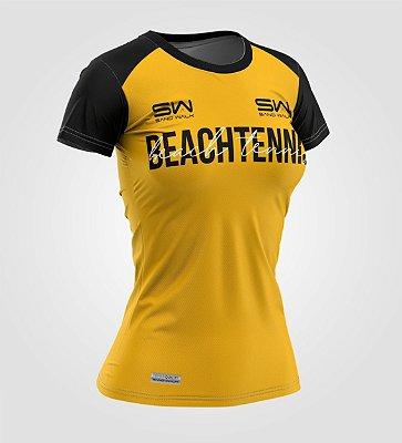 Camiseta Feminina | Beach Tennis | Colors | Mostarda