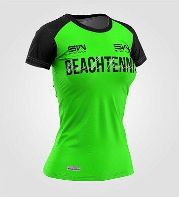 Camiseta Feminina | Beach Tennis | Colors | Verde