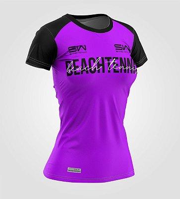 Camiseta Feminina   Beach Tennis   Colors   Purple