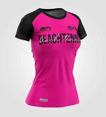 Camiseta Feminina | Beach Tennis | Colors | Pink