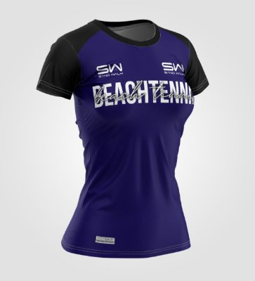 Camiseta Feminina | Beach Tennis | Colors | Marinho